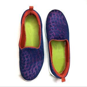Vionic Hydra Mesh Slip On Sneaker Purple & Orange